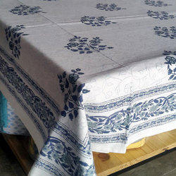 White And Blue Table Cover