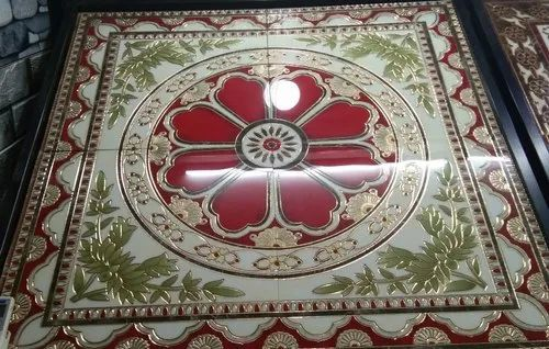 Ceramic Carpet Tile Best Rangoli Tile Design 4x4