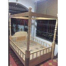 Without Box Wooden Cot Bed