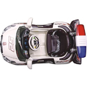White Police Battery Operated Kids Car