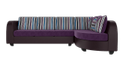 Burgundy & Purple Modern L Shape Sofa Set, For Home, Size: Contemporary