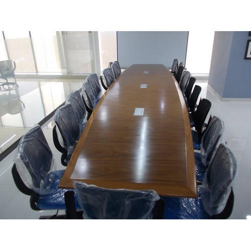 Wooden Rectangular Conference Room Table Size Rs Running - Rectangular conference room table