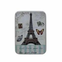 Small Rectangular Multipurpose Use Tin Storage Box (6.5x9x3cm) Paris Design - (1BOX464)