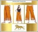 Ladies Cotton Embroidery Palazzo Pants