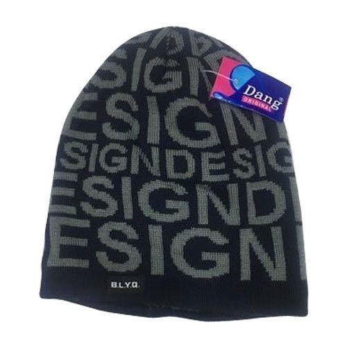 b477338a4a816 Black And Grey Dang Designer Skull Cap