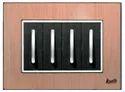 8 Module Brush Copper Square Modular Switch Plate
