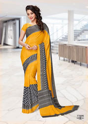 Silk Crepe Uniform Saree