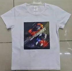 Nylon Casual Wear Kids Printed T Shirt