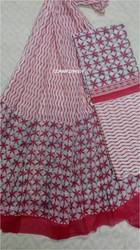 Cotton Dupatta Dress Material Suit