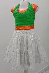 独立日妇女三色花式服装