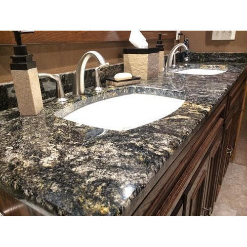 Black Galaxy Granite Countertop Slab 15 20 Mm Rs 60 Square Feet