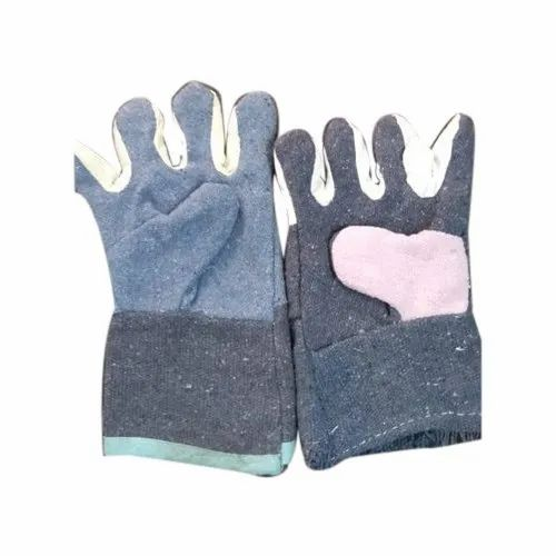 Multicolor Khadi Cotton Full Fingered Gloves, Size: Medium