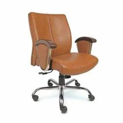 Comfotable Brown Leather President Chair, Model Name/Number: E-Sc 21