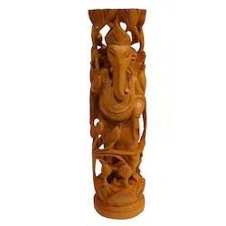 Wooden Ganesha Body Figure