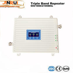 Triple Band Cell Phone Signal Booster 70dB GSM 900 LTE 1800