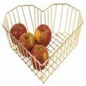 Metal Wire Storage Fruit Bowl Basket
