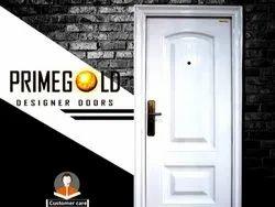 Standard Iron White Security Steel Door PGS-6, Thickness: 70MM, Material Grade: Zink Alloy Dkp Sheet