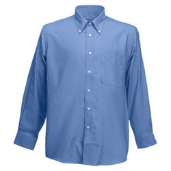 Aprie Sports Cotton Mens Blue Formal Shirts, Handwash