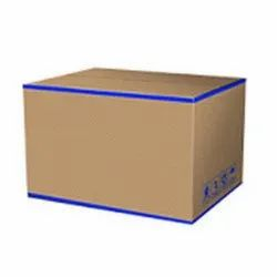 Blue and Brown Kraft Paper Laminated Corrugated Box
