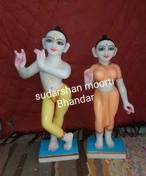 Marble Iscon Radha Krishna Statue