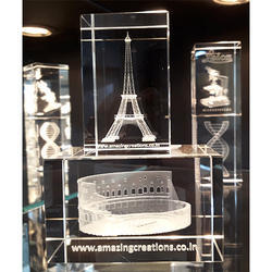 3D Monuments Crystals Engraved