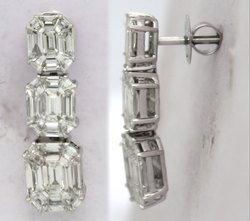 Emerald Diamond Earring