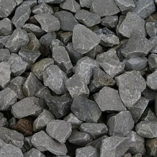Dark Grey Raw Material Crushed Stone Aggregate, Size: 40mm, Packaging Size: Loose