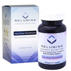 Relumins Advance Nutrition Max Dose Glutathione Capsules, Packaging Type: Plastic Container
