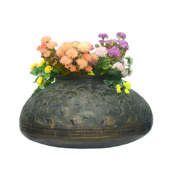 Designer Metallic FRP Vase