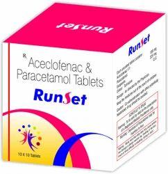 Aceclofenac Paracetamol Tablets, Packaging Type: Blister, Packaging Size: 10 x 10
