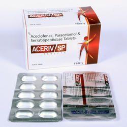 Aceclofenac 100mg Paracetamol 325mg Serratiopeptidase Tablets