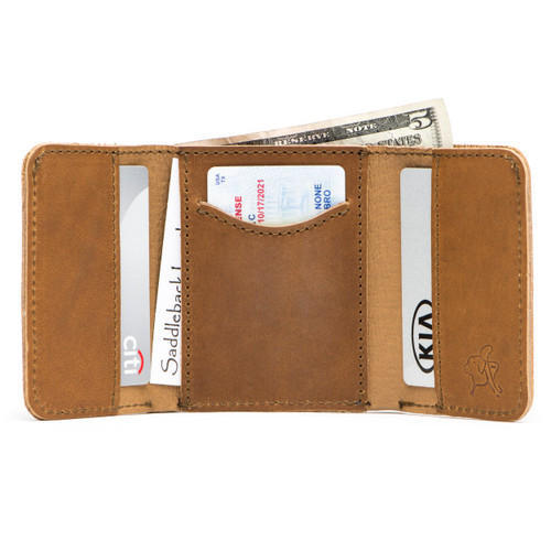 c44b8a2f4 Brown RFID Data Protection Leather Card Holder