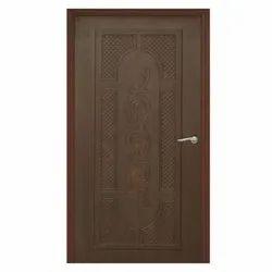 7 - 8 Feet Wood Brown Membrane Doors