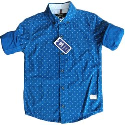 Next Cotton Kids Party Wear Dotted Shirt