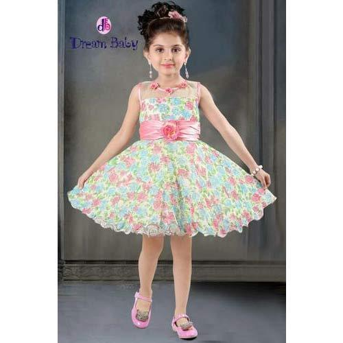 89f3a732b Dream Baby Party Wear Kids Floral Print Frock