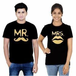 Couple Round Neck T Shirt