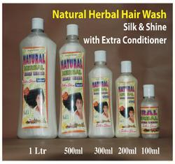 Natural Herbal Hair Wash Shampoo (Silk & Shine With Extra Conditioner)
