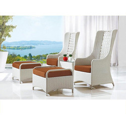 Wicker Designer Chair Set
