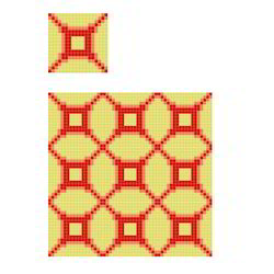 Crystal Repeated Pattern Glass Mosaic Tiles