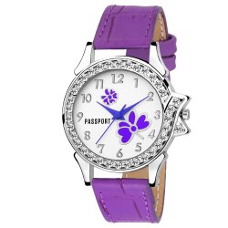 Purple Ladies Wrist Watch