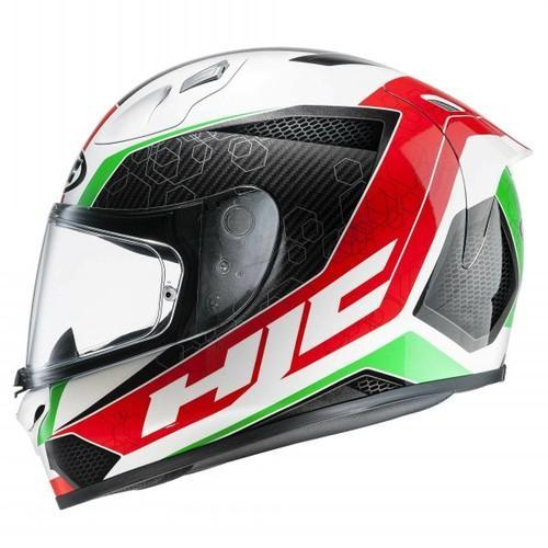 Hjc Fg 17 >> Hjc Fg17 Ohama Mc1 Matt White Black Red Green Full Face Helmet