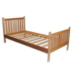 R.T.S. Furniture Brown Wooden Single Bed