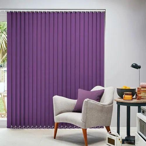 Plain Vertical PVC Window Blinds