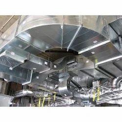 Silver GI HVAC Duct