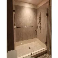 Hinged Toughened Glass Door, Size/dimension: 7 X 3 Feet