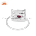 Handmade Oxidized 925 Sterling Silver Natural Ruby Ring Jewelry