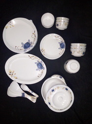 Melamine White Fiber Dinner Set, Packaging Type: Individually Packed, Size: 11 Inches