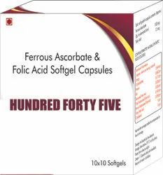 Ferrous Ascorbate and Folic Acid Softgel Capsules