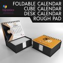 Foldable Table Calendar With Scribble Pads