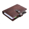 Leatherite Lock Black Business Organizer